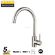 Cheap 304 Stainless Steel Kitchen Tap Dual Spout Kitchen Faucet