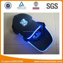 Moda mejor venta fibra optica led flashing light gorras de beisbol y sombreros