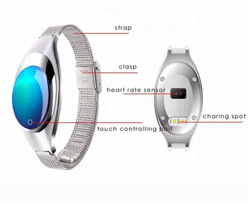 2017 Fashion Style Z18 Waterproof Women Smart Watch Bracket / Woman Wristband