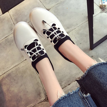 QX4869 white loafers lazy breathable white shoe wholesale