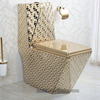 Golden ceramic one piece karat toilet parts