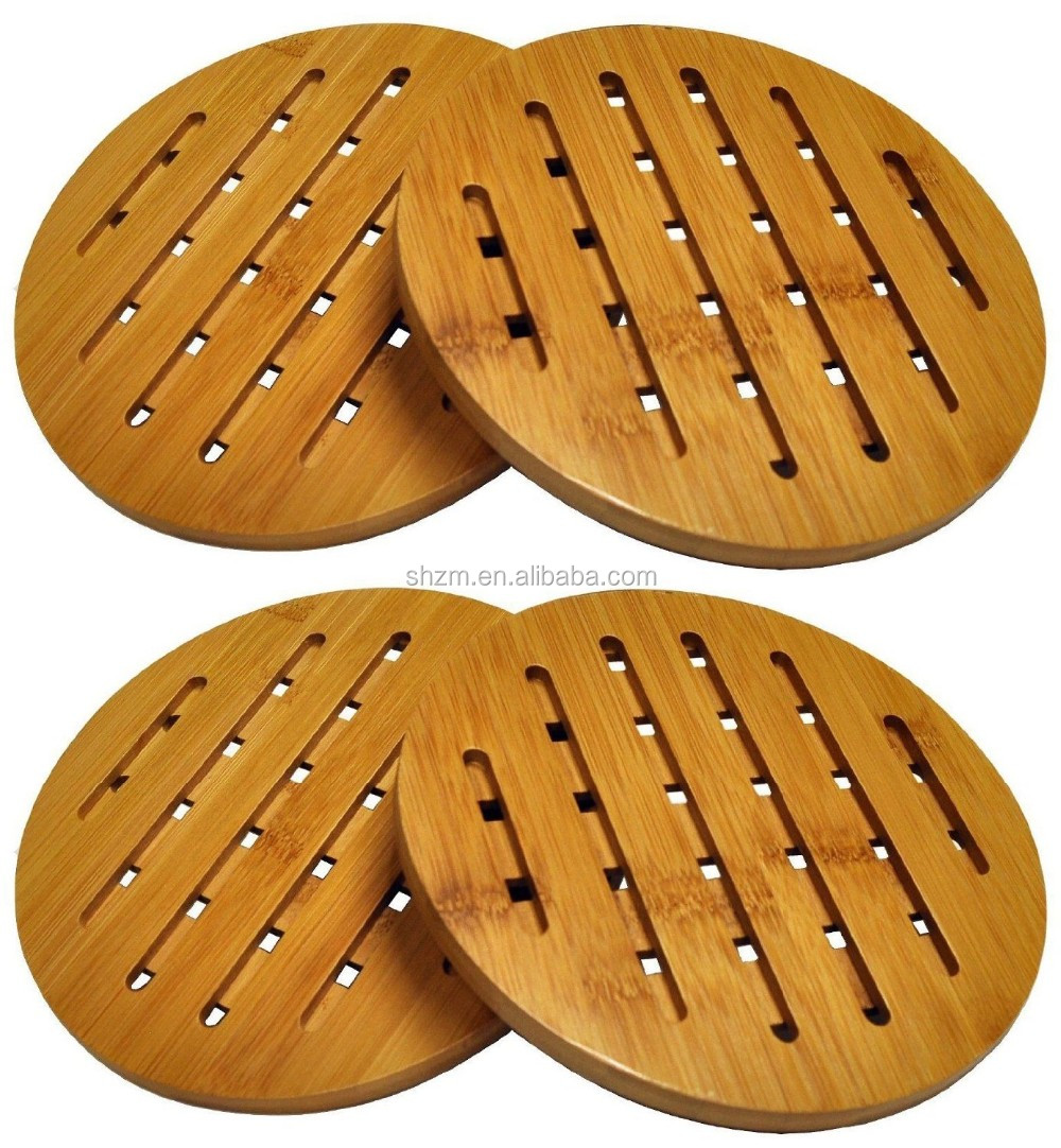Totally Bamboo Trivet Mat Duty Hot Pot Holder Heat Resistant Pads For Hot Dishes Pot Bowl Teapot Buy Wooden Trivets Wooden Pot Holder Thick Pot Holder Product On Alibaba Com