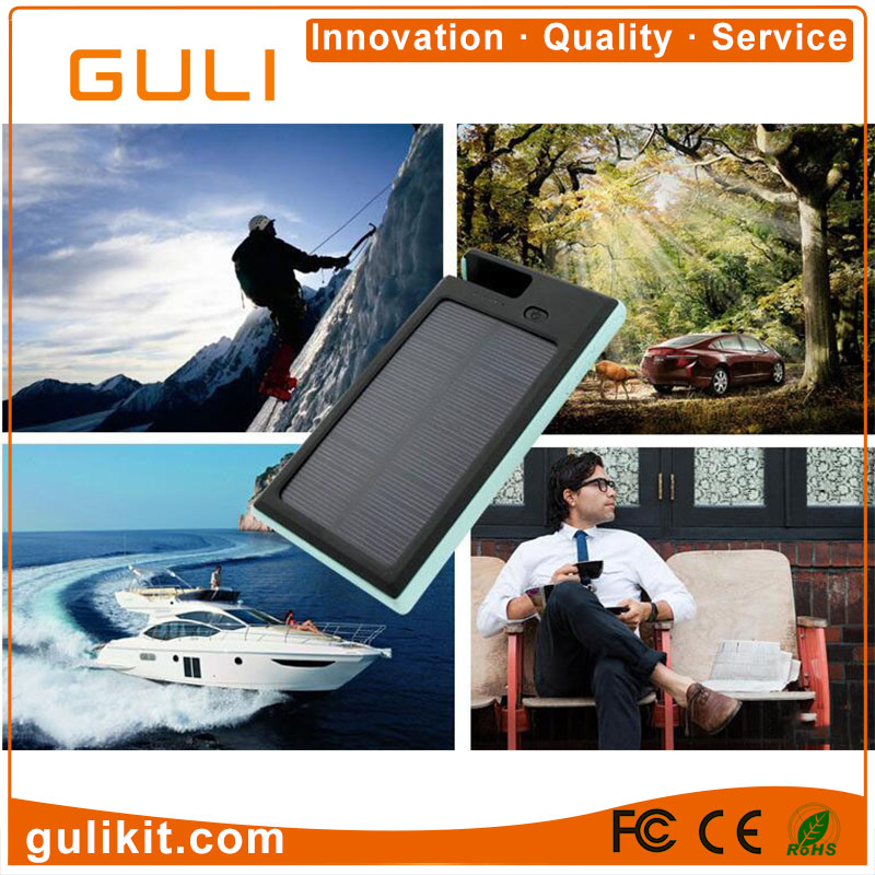 Water Proof Mobile Phone Holder Solar Power Bank 8000mAh with Bright LED Lamp