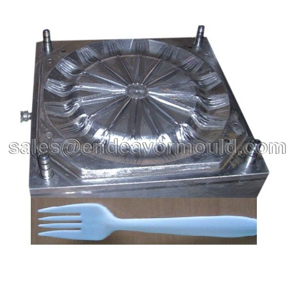 Alibaba trade assurance supplier plastic cutlery mold manufacturer/plastic fork knife and spoon maker