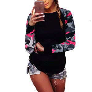 FY Women Clothing New Autumn Tops Long Sleeve T Shirts Women Casual Splicing Printing Long Sleeve Blouses Plus Size Five Colors