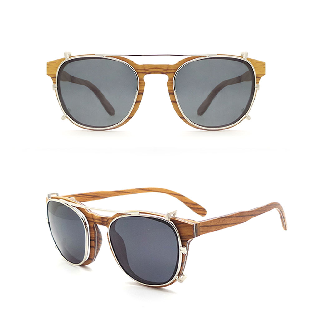 W44 High Quality Private Label Own Brand Factory Sunglasses Italy 100% Bamboo Wood Polarized Bulk Clip On Sun Glasses Sunglasses