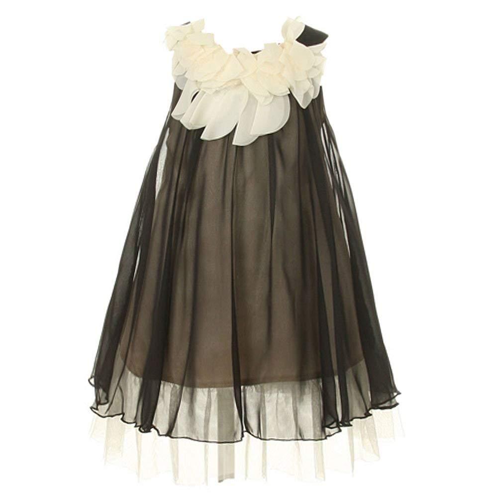 11681e540d3 Buy Kids Dream Toddler Girls 2T Black Layered Tiered Flower Girl ...