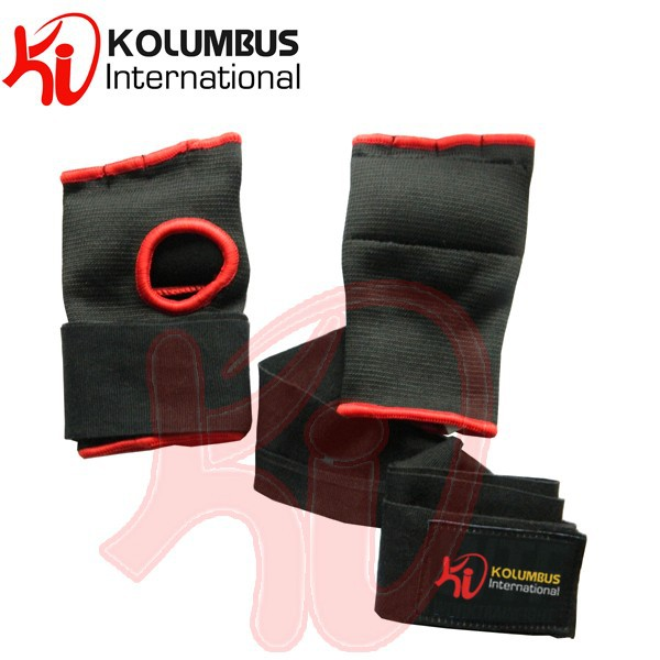 Black Red Boxing Quick Hand Wraps, Inner Wraps For Boxing Gloves For Extra Protection