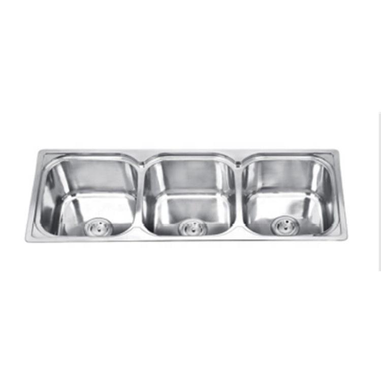 316 Stainless Steel Triple Bowl Kitchen