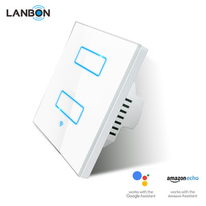 Smart Home automation Wireless WiFi switch 2 gang 1 way 2 way light switch support Amazon Alexa Google Home Beyond sonoff Z-wave