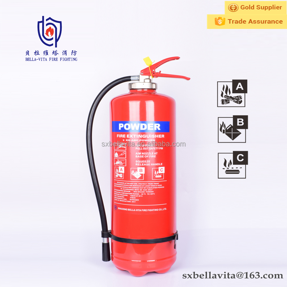 China suppliers portable 9kg C02 inner dry powder fire extinguisher