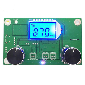 87-108MHz With Serial Control DSP & PLL Digital Stereo FM Radio Receiver Module With Silencing LCD Display 3-5V LCD Module