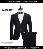 free shipping slim fit tailor wedding T/R men 2016 suit neck design