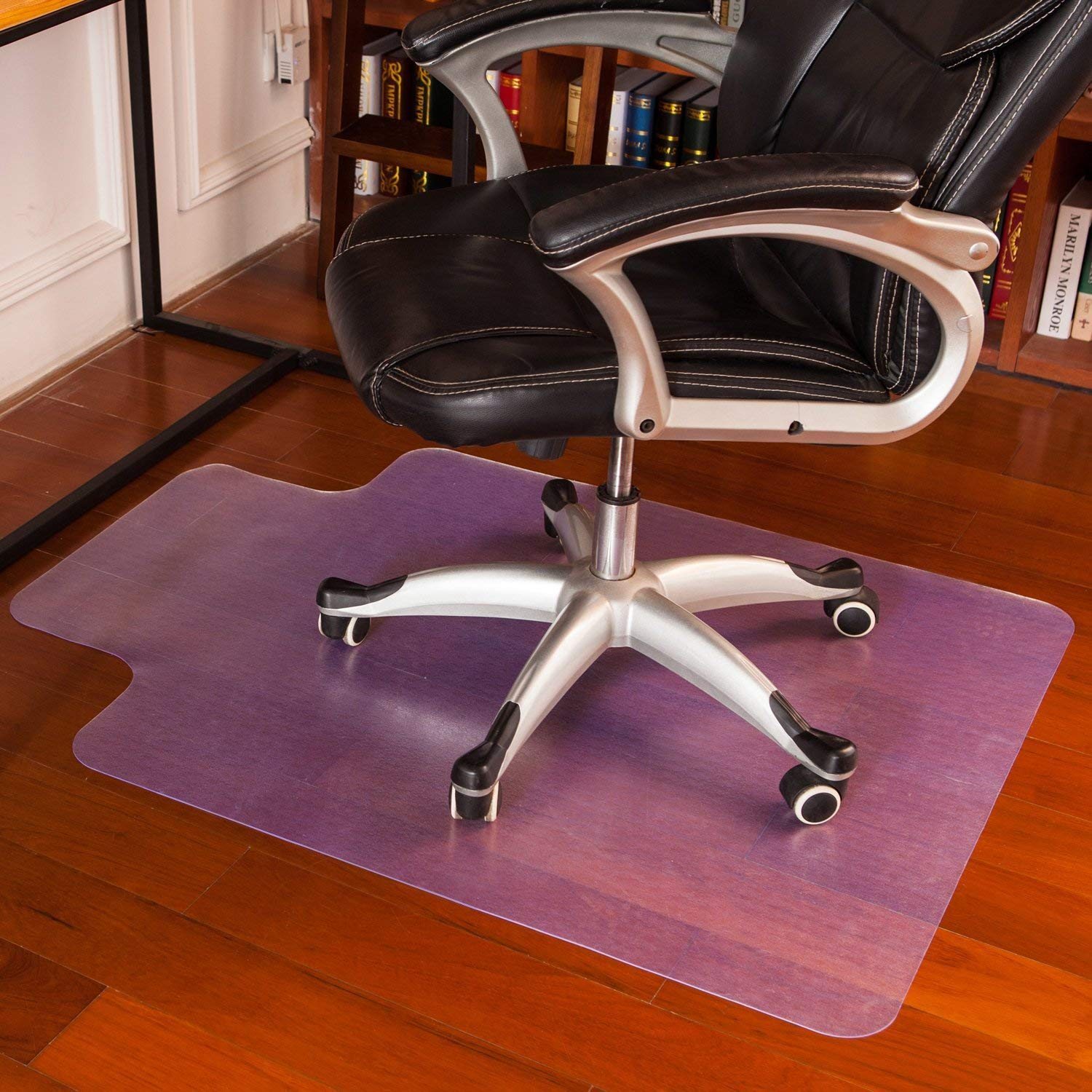 """Office Chair Mat Clear Plastic for Hardwood Floor Plastic Computer Chair mat PVC Plastic Mat Clear Oversized and Rolling Delivery, Protect Hard Flooring in Home and Office 36""""x 48"""" with Lip"""