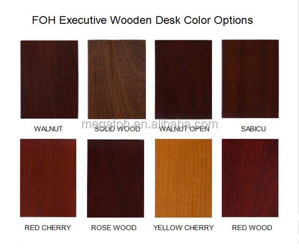 Guangzhou Mahogany Wood Furniture Manager Office Executive Deskfoh