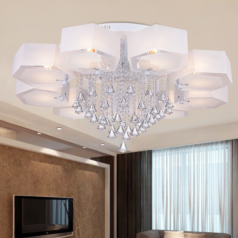 moderne plafonnier cristal salon chambre plafond acrylique plafond circulaire led d coration d. Black Bedroom Furniture Sets. Home Design Ideas
