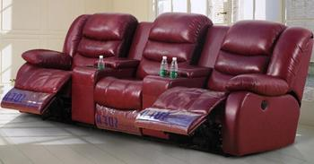 Electric Recliner Sofa In Leather/best Recliner Chair/detachable Headrest  For Recliner Chair