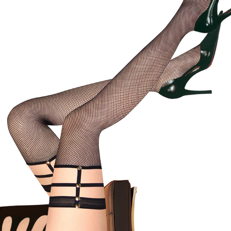 0709602cb39 Get Quotations · 2015 Fashion Sexy Stockings Black Thigh High Stockings  Fishnet Thigh High Stockings For Women High Quality