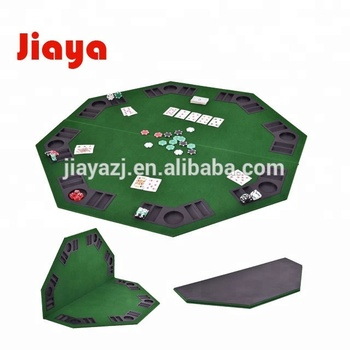 Folding Poker Table Top Verde Octagon 8 Player Quatro Vezes Folding Poker Table Top & Maleta