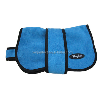 Toweling dog cooling coats