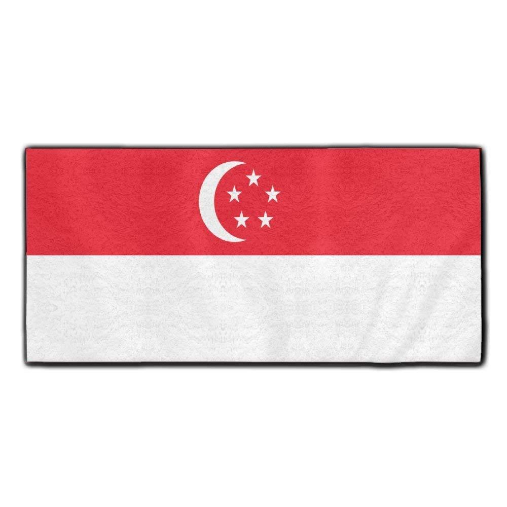 ChunLei Singapore Flag Washcloths Face Towel Hair Care Towel Gym And Spa Towel Kitchen Dish Towel