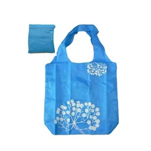Eco-friendly pieghevole di nylon poliestere impermeabile RPET shopping tote bag con il piccolo sacchetto