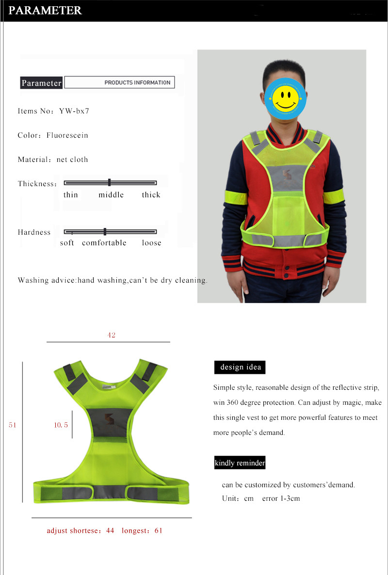 Reflective Vest For Running Or Cycling Including Two 3m Safety ...