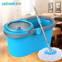 Crystal wonder mop magic 360 with round mop head and separate basket