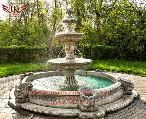 Large Marble Water Fountains For Garden Decoration With