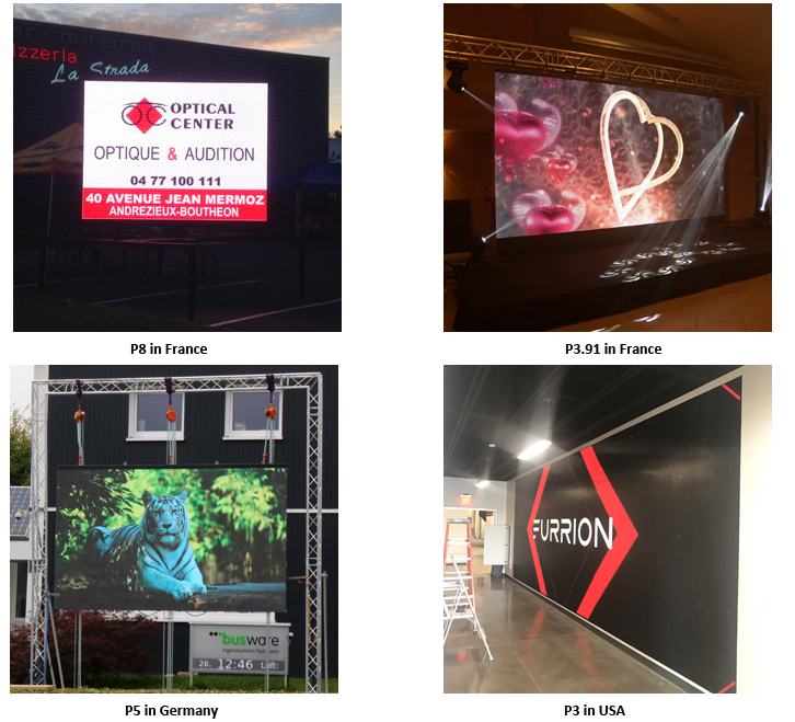 High Brightness Advertising Led Panel P5 Outdoor Led Display Screen