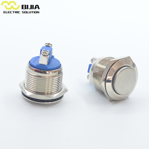BIJIA 19mm aluminium push button switch ad16-22ds/g/12v ac 600v 10a red mushroom emergency stop