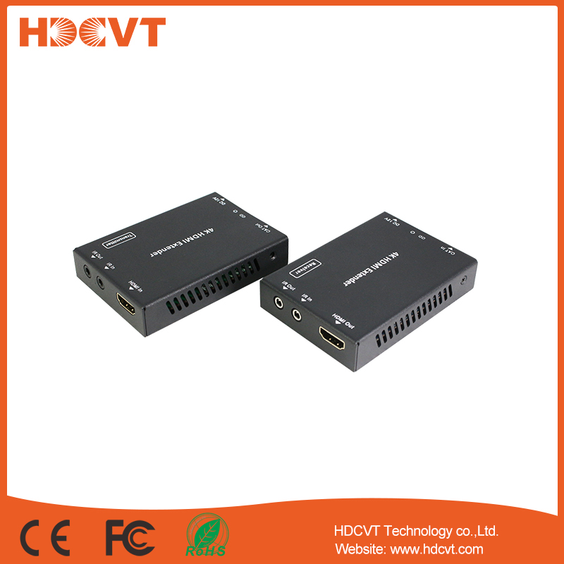 HDCVT powerline hotsale 4k HDMI Extender over cate5/6/7 50m whitch can support POE