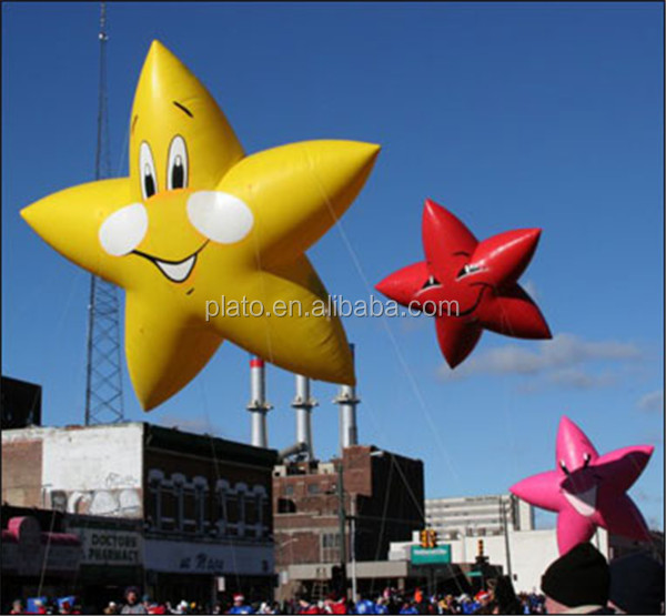 High quality popular PVC inflatable Star Shape balloons, custom shape balloon for sale