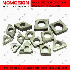 Carbide shim used as substrate for PCD, PCBN inserts
