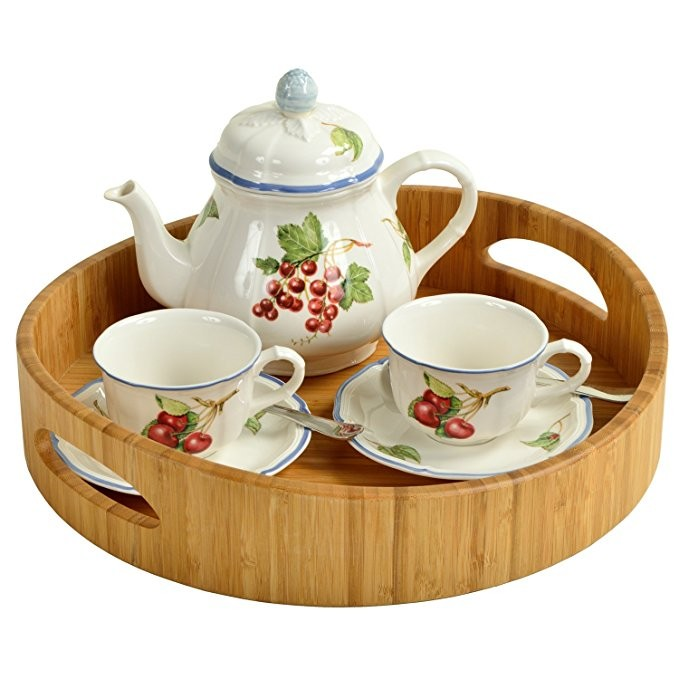 bamboo wood breakfast bed tray wood serving tray 3
