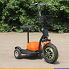 New Design 48V 500W Brushless Motor 3 Wheel Electric Tricycle Zappy Scooter