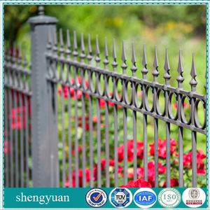 Powder Coated Antique Decorative Used Cheap Wrought Iron Fence
