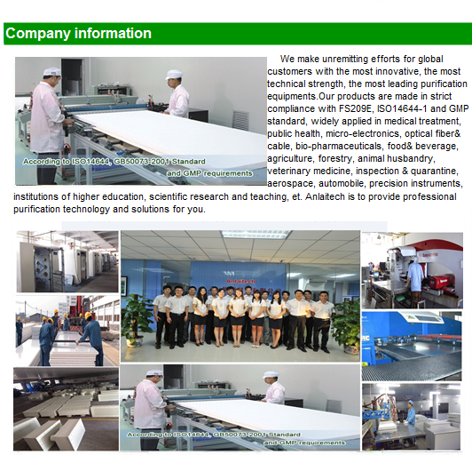 Factory Direct Supply Modular Cleanroom Clean Room with Hepa Filter