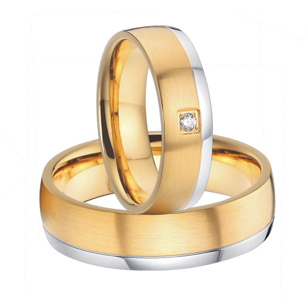 Get Quotations · 2015 Beautiful Mens And Womens Gold Plated Titanium Wedding  Bands Promise Rings Sets Handmade Custom Alliances
