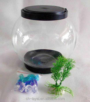 Small Pet Glass Fish Bowl Be Suit For Freshwater And Saltwater ...