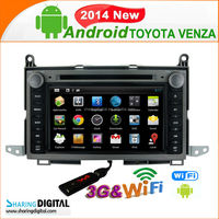 TYT-7101GDA Support wireless IPOD android gps navigation for TOYOTA VENZA