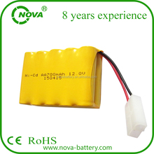 aa nicd 700mah 12v rechargeable battery pack