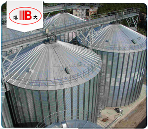 Flat bottom grain / soybean / maize / wheat storage steel silo supplier in China