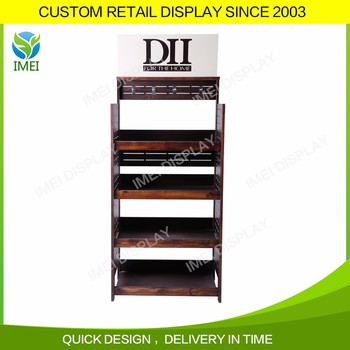 Good made technology used wooden cosmetic display stand