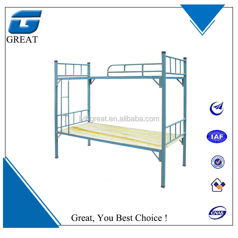 High quality stainless steel double bunk bed/wholesale stainless steel double bunk