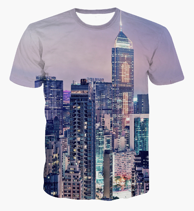 42bc14faf Buy New arrive fashion 2105 men/women's 3d T shirt print New York/Paris  city view novelty graphic tee shirts t-shirts summer tops in Cheap Price on  ...