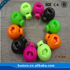 2018 latest colored plastic cord stopper,cord lock,cord end for garment