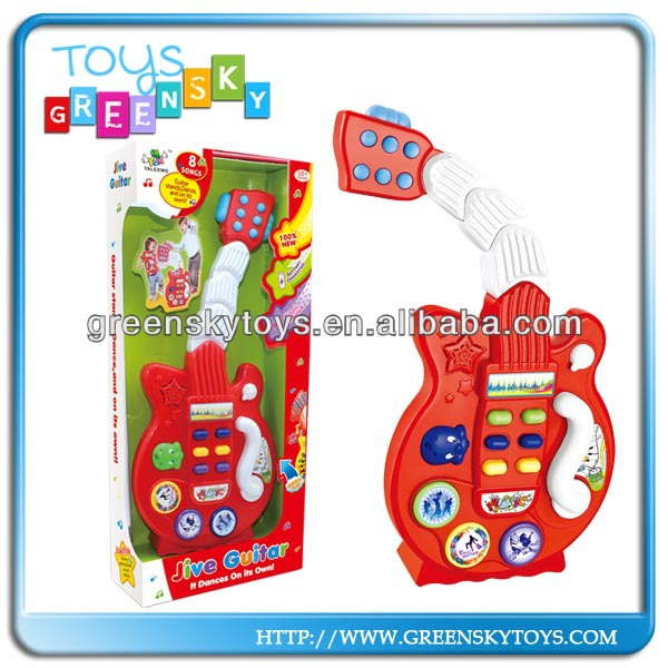 Baby Instrument Toy Cartoon Musical Guitar Plastic Mini Electronic Guitar
