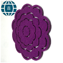 High Quality Wholesale Custom Cheap felt cup mat pad coaster fashionable fabric