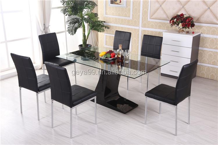 juego de comedor moderno con patas de metal econmicas y superficie de vidrio